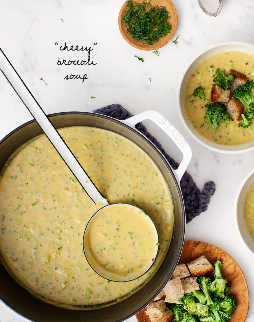 Vegan Cheesy Broccoli Soup